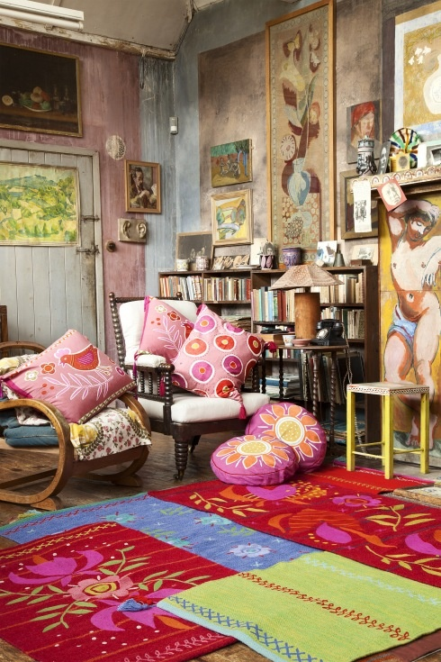 Rugs and kilims are the master elements of bohemian style for Idee deco retro chic
